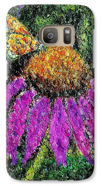Galaxy Case featuring the painting Coneflowers Rule by Susan DeLain