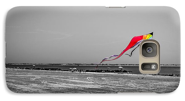 Galaxy Case featuring the photograph Coney Island Kite by Rafael Quirindongo