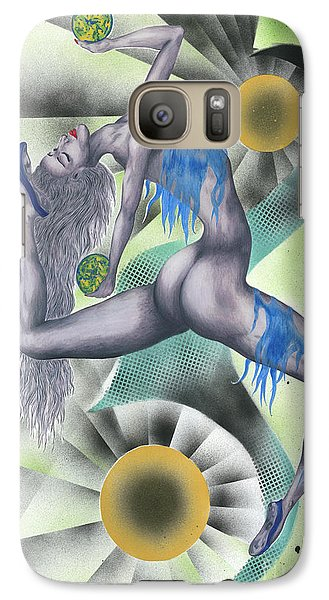 Galaxy Case featuring the painting Configuration by Kenneth Clarke