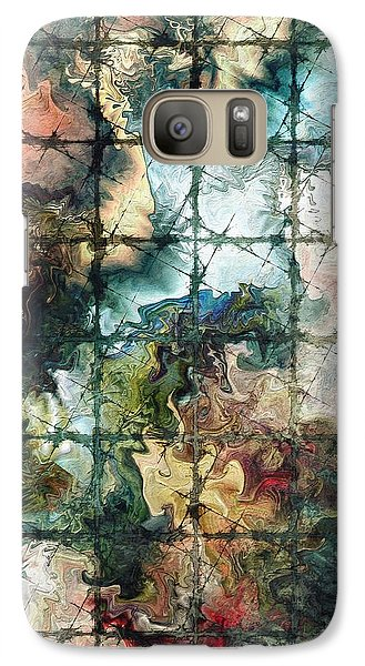 Galaxy Case featuring the digital art Confined by Kim Redd