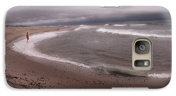 Galaxy Case featuring the digital art Confronting The Sea by Bruce Rolff