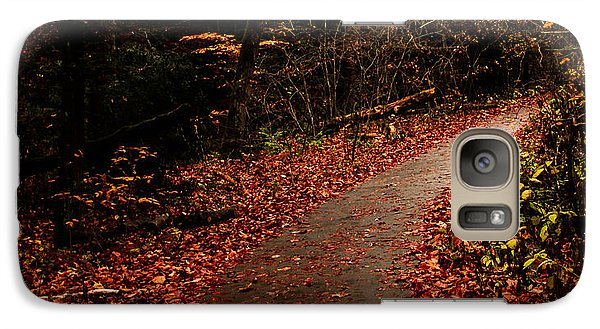 Galaxy Case featuring the photograph Conkle's Hollow Path by Haren Images- Kriss Haren