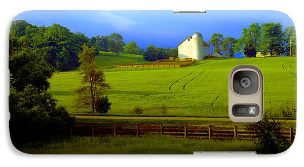 Galaxy Case featuring the photograph Conley Road Farm Spring Time by Tom Jelen