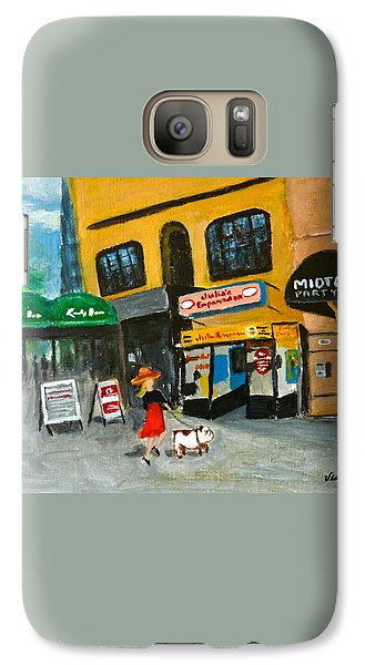 Galaxy Case featuring the painting Connecticut Avenue Dc by Victoria Lakes
