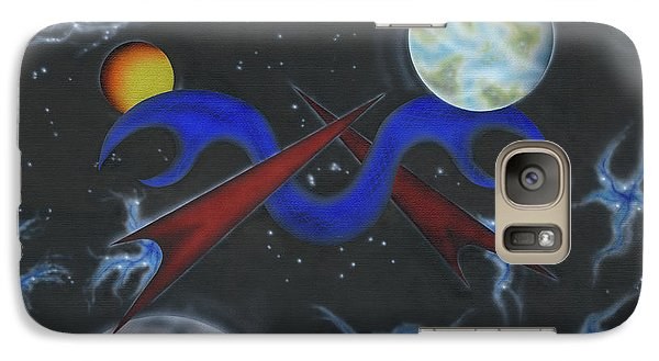 Galaxy Case featuring the painting Connectivity by Kenneth Clarke