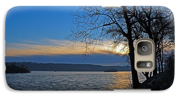 Galaxy Case featuring the photograph Conowingo Sunrise by Olivia Hardwicke