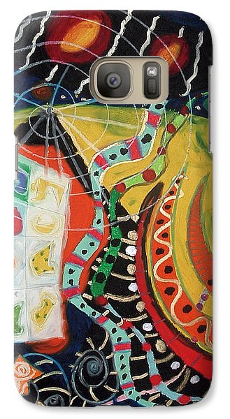 Galaxy Case featuring the painting Constellational Signals by Clarity Artists