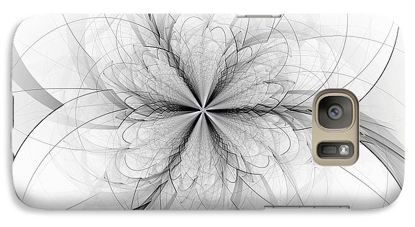 Galaxy Case featuring the digital art Construction Of A Flower by Linda Whiteside