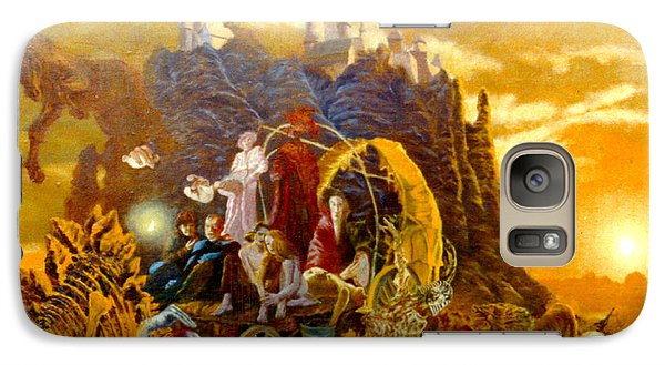 Galaxy Case featuring the painting Constructors Of Time by Henryk Gorecki