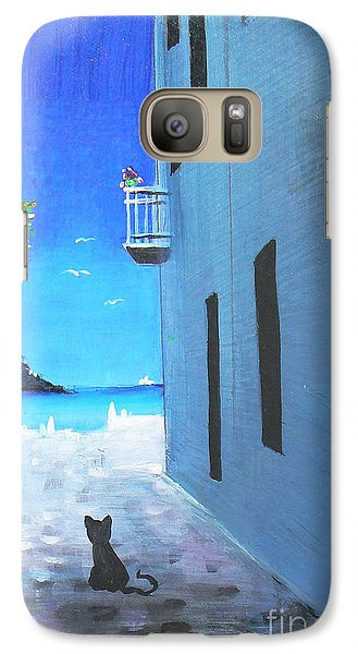 Galaxy Case featuring the painting Contemplating by S G