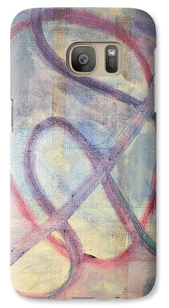 Galaxy Case featuring the painting Contemplation by Phoenix De Vries