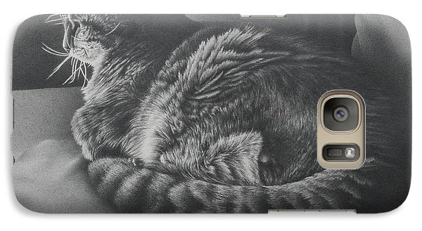 Galaxy Case featuring the drawing Contentment by Pamela Clements