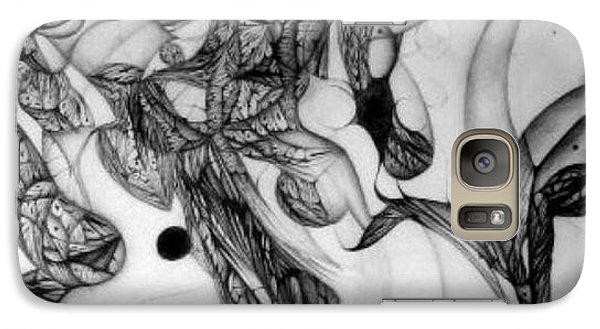 Galaxy Case featuring the drawing continuum two in progress Tuesday Evening by Jack Dillhunt