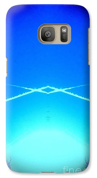 Galaxy Case featuring the photograph Contrail Pyramid  by Karen Newell