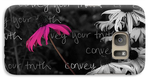 Galaxy Case featuring the photograph Convey Your Truth by Lauren Radke