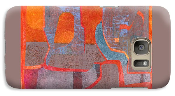 Galaxy Case featuring the mixed media Convo by Catherine Redmayne