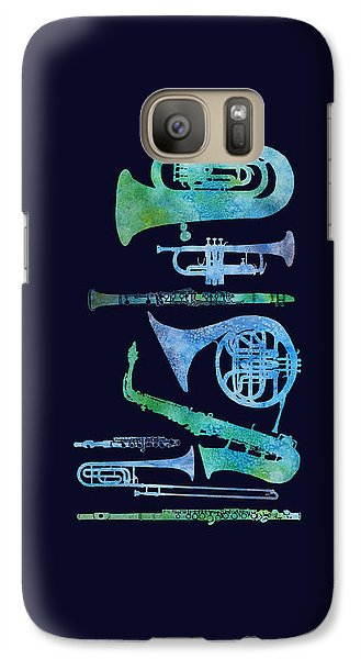 Cool Blue Band Galaxy S7 Case by Jenny Armitage