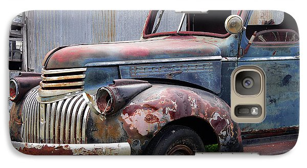 Galaxy Case featuring the photograph Cool Blue Chevy by Steven Bateson