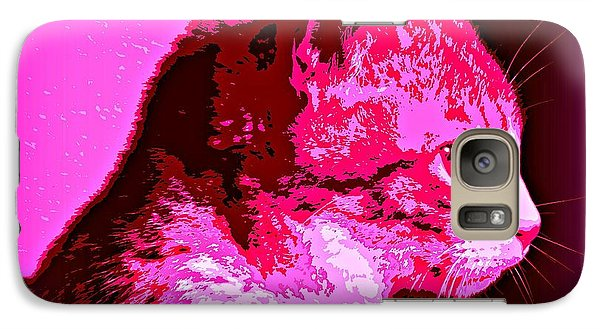Galaxy Case featuring the photograph Cool Cat by Clare Bevan