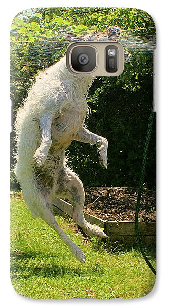 Galaxy Case featuring the digital art Cool Dog by Ron Harpham