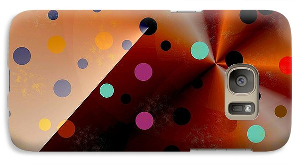 Galaxy Case featuring the painting Cool Dots by Jessica Wright