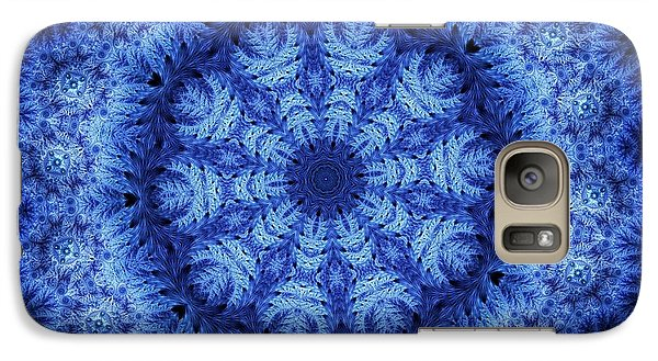 Galaxy Case featuring the digital art Cool Down Series #1 Snowflake by Lilia D