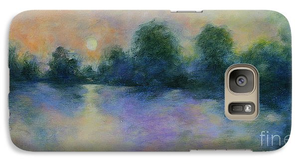 Galaxy Case featuring the painting Cool Morning by Alison Caltrider