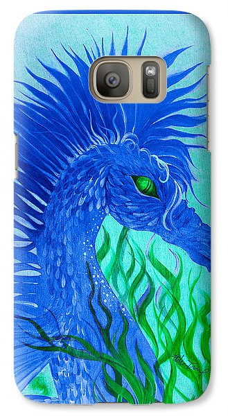 Galaxy Case featuring the painting Cool Sea Horse by Adria Trail