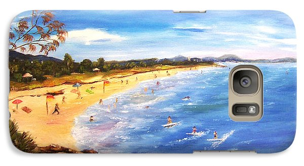 Galaxy Case featuring the painting Coolum Beach by Renate Voigt