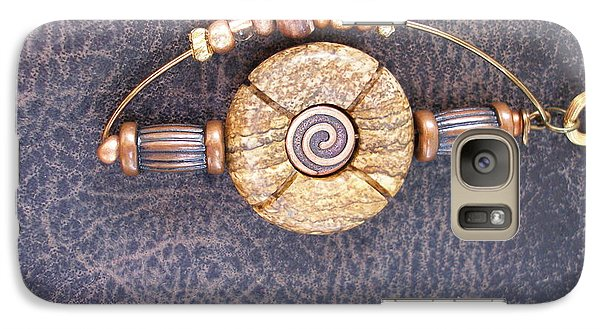 Galaxy Case featuring the photograph Copper And Stone by Irma BACKELANT GALLERIES