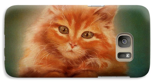 Galaxy Case featuring the pastel Copper-colored Kitty by Evie Cook