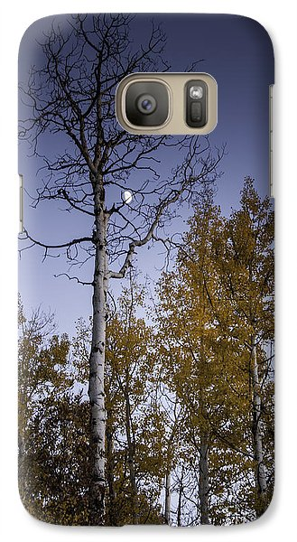 Galaxy Case featuring the photograph Copper Ridge Moon At Sunset by Daniel Hebard