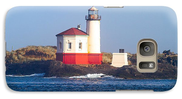 Galaxy Case featuring the photograph Coquille Lighthouse by Dennis Bucklin