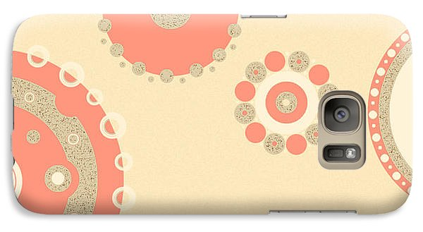 Galaxy Case featuring the digital art Coral And Cork by Kjirsten Collier