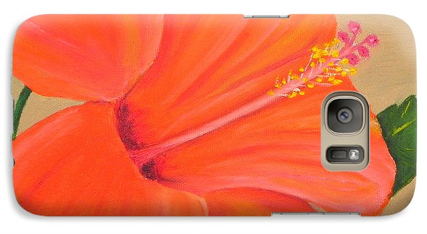 Galaxy Case featuring the painting Coral Delight - Hibiscus Flower by Shelia Kempf