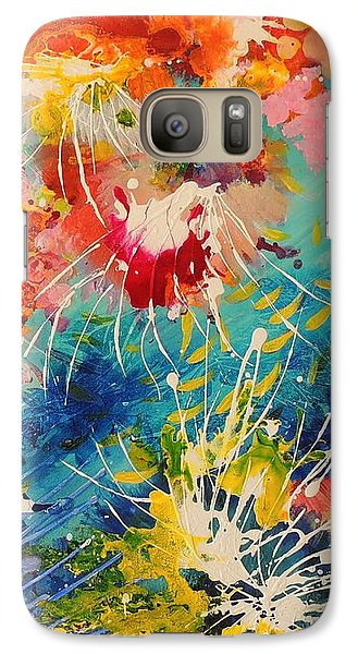 Galaxy Case featuring the painting Coral Madness by Lyn Olsen