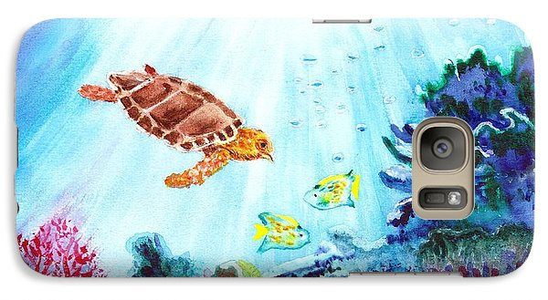 Galaxy Case featuring the painting Coral Reef by Donna Walsh