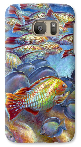 Galaxy Case featuring the painting Coral Reef Life I by Nancy Tilles