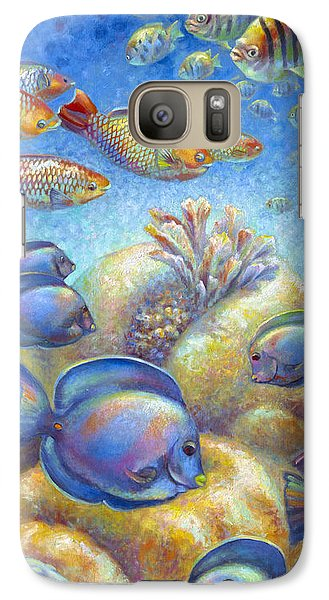 Galaxy Case featuring the painting Coral Reef Life II by Nancy Tilles