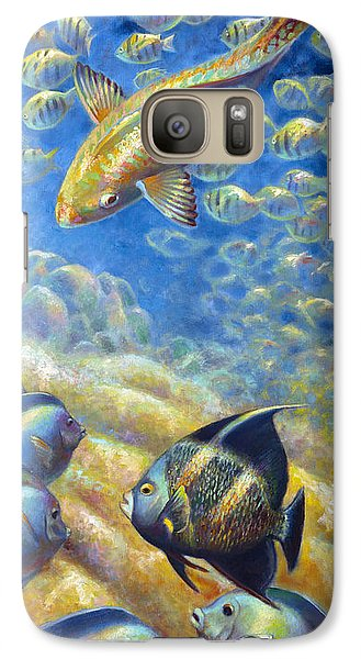 Galaxy Case featuring the painting Coral Reef Life IIi by Nancy Tilles