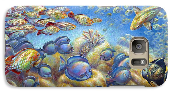 Galaxy Case featuring the painting Coral Reef Life by Nancy Tilles