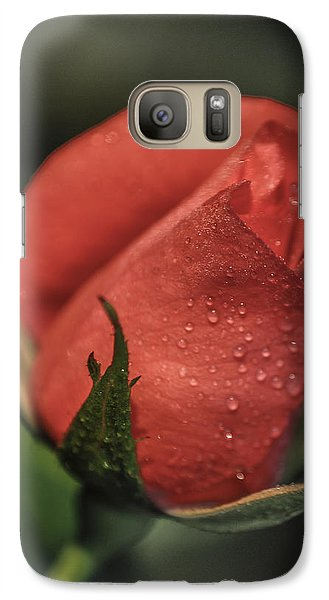 Galaxy Case featuring the photograph Coral Rosebud by Debbie Karnes