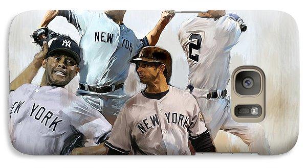 Core  Derek Jeter Mariano Rivera  Andy Pettitte Jorge Posada Galaxy S7 Case by Iconic Images Art Gallery David Pucciarelli