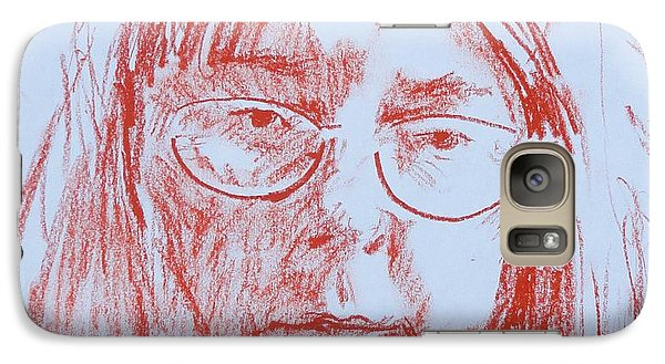 Galaxy Case featuring the drawing Corliss' Portrait by PainterArtist FINs husband Maestro