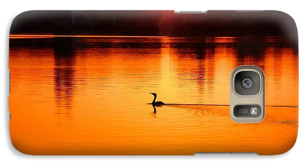 Galaxy Case featuring the photograph Cormorant At Sunset by Pamela Blizzard