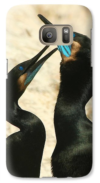 Galaxy Case featuring the photograph Cormorant Love by Bob and Jan Shriner