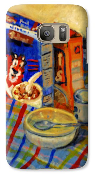 Galaxy Case featuring the painting Corn Flakes by Michael Daniels