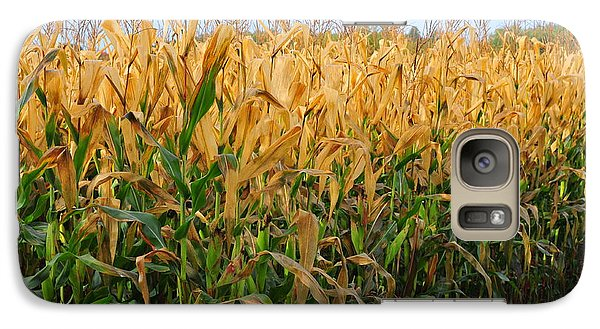 Galaxy Case featuring the photograph Corn Harvest by Terri Gostola