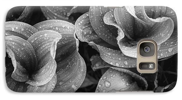 Galaxy Case featuring the photograph Corn Lilies - Black And White by The Forests Edge Photography - Diane Sandoval