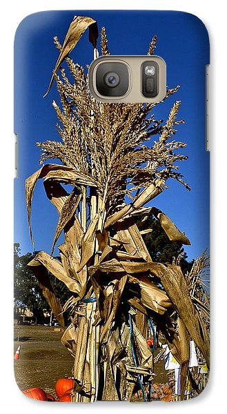 Galaxy Case featuring the photograph Corn Stalk by Michael Gordon